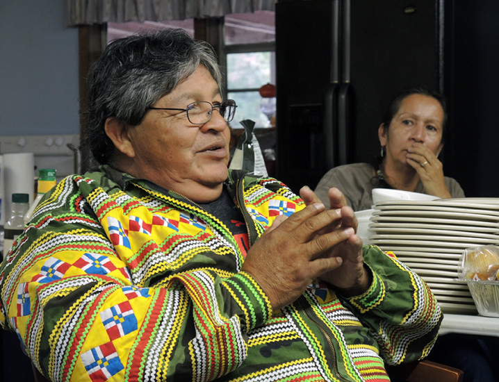 Frank Billie of the Independent Traditional Seminole Nation from Florida.
