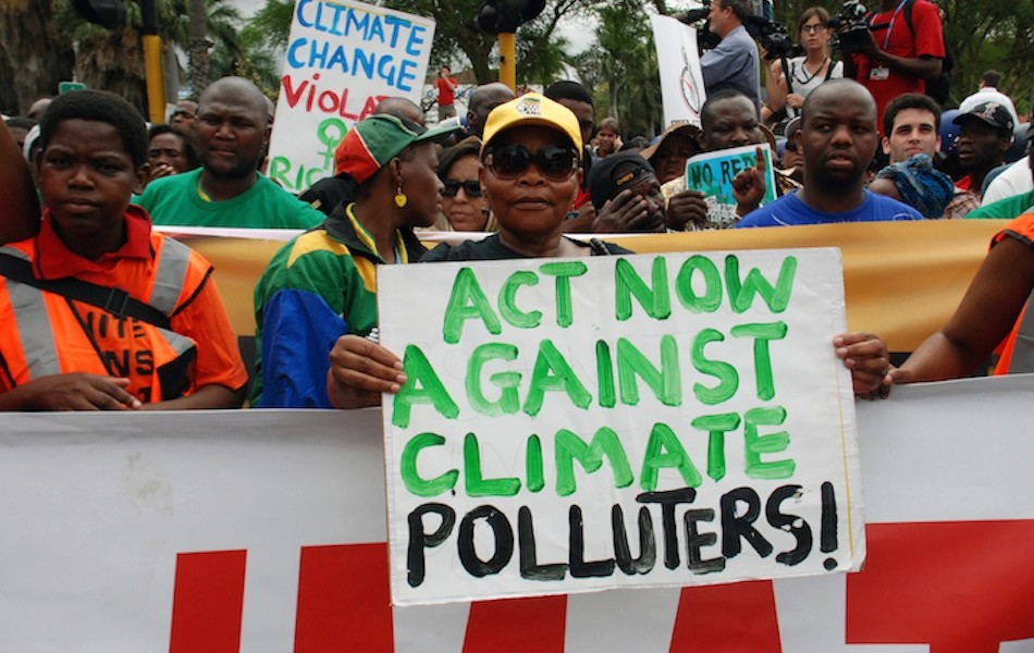 March for climate justice during the UN Climate COP in Durban, South Africa in 2011.  Photo: Langelle
